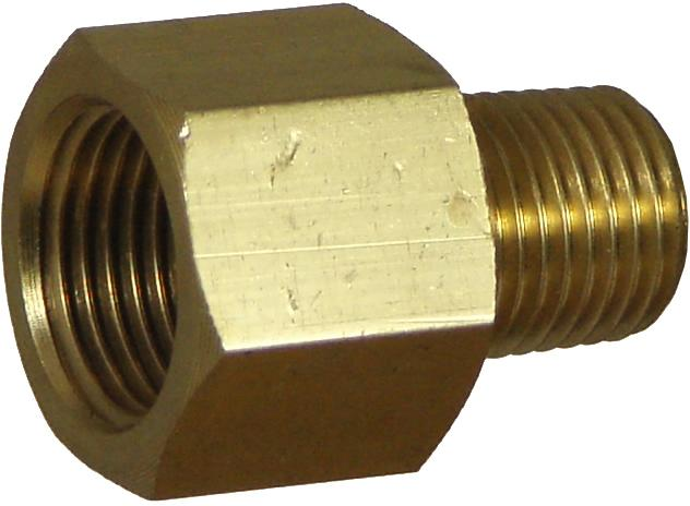 Brass Fitting Adaptor 3/8MBSP x 3/8FNPT - Port Kennedy Auto Parts & Batteries