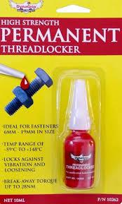 Permanent Threadlocker RED 10262 - Port Kennedy Auto Parts & Batteries