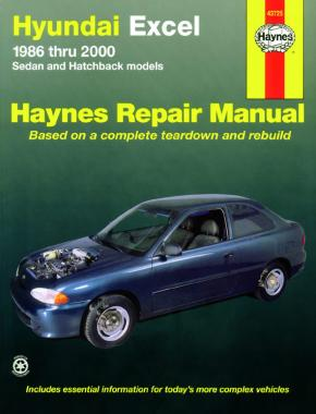 Haynes Hyundai Excel 1986-2000 Repair Manual 43725 - Port Kennedy Auto Parts & Batteries
