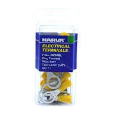 Electrical Terminals - Wire 6mm x Tab 9.5mm 56092BL - Port Kennedy Auto Parts & Batteries