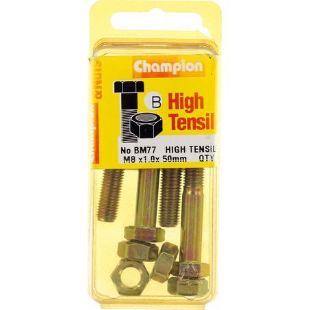 Bolts & Nuts High Tensile M8 x 1.0 x 50mm BM77 - Port Kennedy Auto Parts & Batteries