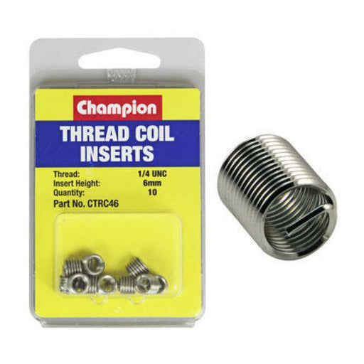 Coil Inserts 1/4 UNC x 6mm 10PK - Port Kennedy Auto Parts & Batteries