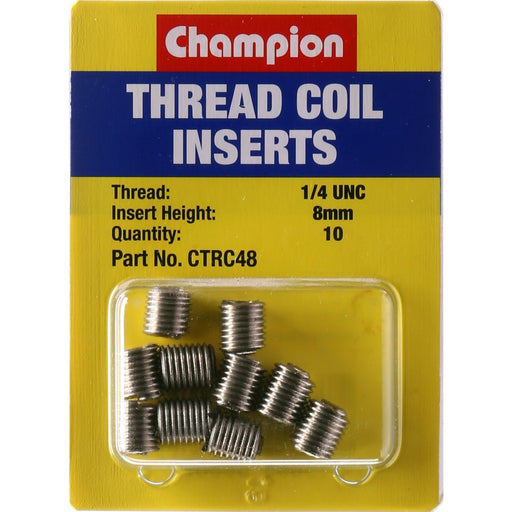 Coil Inserts 1/4 UNC x 8mm 10PK - Port Kennedy Auto Parts & Batteries