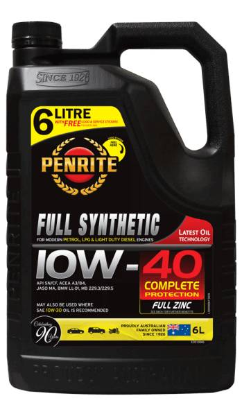 Oil Engine Penrite Everyday Full Synthetic 10W-40 6L - Port Kennedy Auto Parts & Batteries