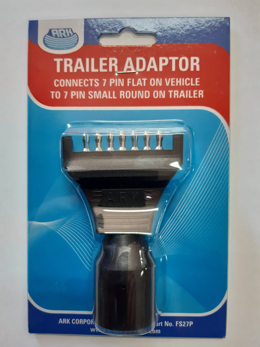 Trailer Adaptor 7 Pin Flat to 7 Pin Small Round - Port Kennedy Auto Parts & Batteries