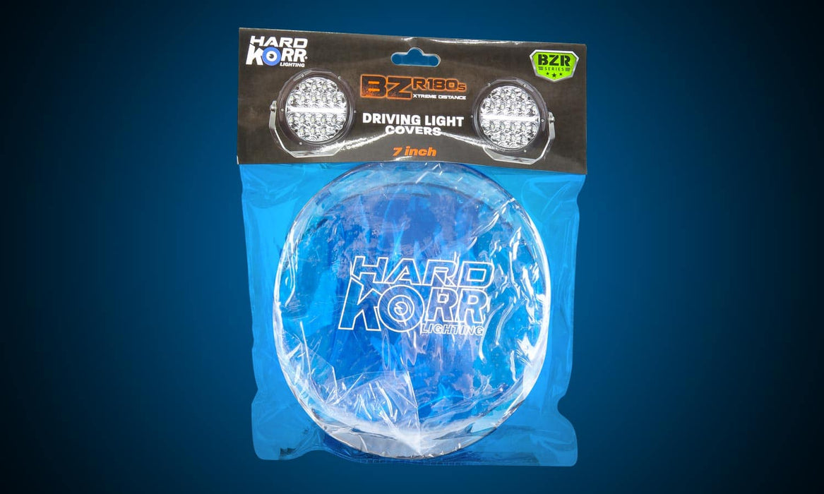 "Hard Korr Protective Covers for 7"" BZR Series Driving Lights (Blue) - Port Kennedy Auto Parts & Batteries"