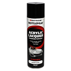 Matt Black Acrylic Spray Can - Port Kennedy Auto Parts & Batteries