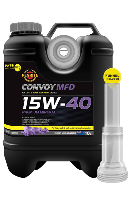 Oil Enging Penrite Convoy MFD 15W-40 10L MULTIFD15010 - Port Kennedy Auto Parts & Batteries