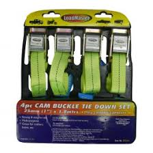 Tie Down Set - 4pc with Cam Buckle 22mmX1.8Mtr RG1606