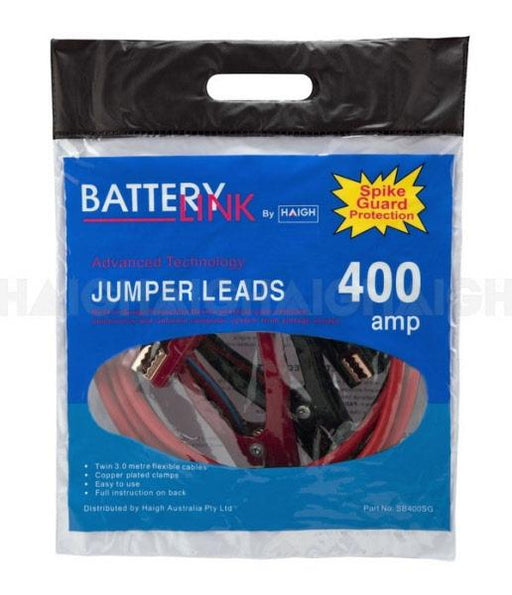 Jumper Leads Battery Link SB400SG - Port Kennedy Auto Parts & Batteries