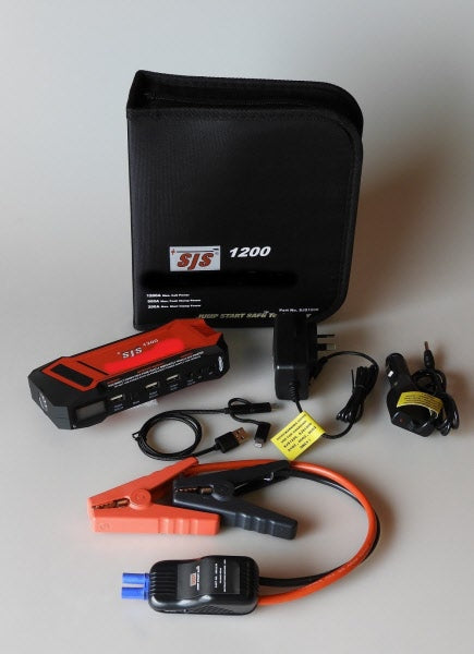 Smart Charger Personal Power Pack/Jump Starter 1200 Amp