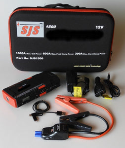 Smart Charger Personal Power Pack/Jump Starter 1500 Amp