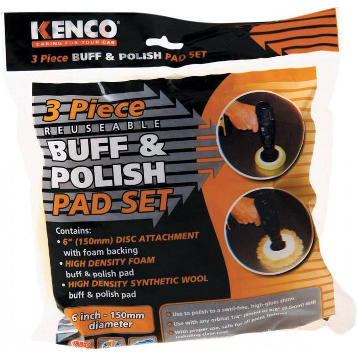 Pad Set Buff & Polish 3pce 58000 - Port Kennedy Auto Parts & Batteries
