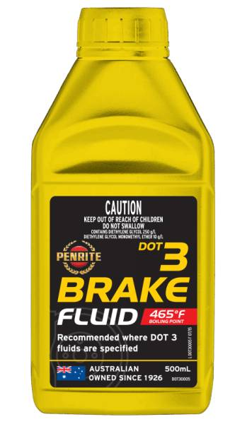 Brake Fluid Penrite Dot 3 500ml - Port Kennedy Auto Parts & Batteries