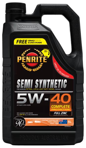 Oil Engine Penrite Everyday Plus 5W40 5L - Port Kennedy Auto Parts & Batteries