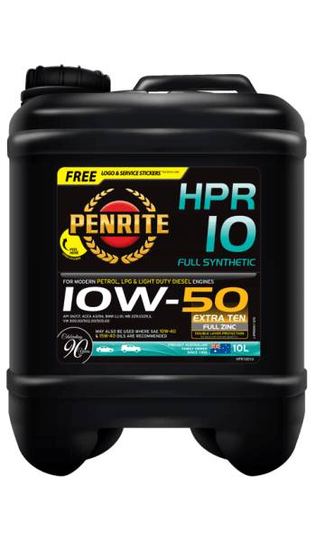 Oil Engine Penrite HPR 10 Full Synthetic 10W-50 10L - Port Kennedy Auto Parts & Batteries