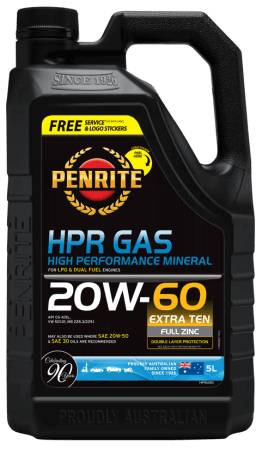 Oil Engine Penrite HPR Gas Mineral Oil 20W-60 5L - Port Kennedy Auto Parts & Batteries
