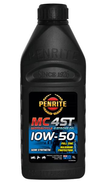 Oil Motorcycle 4 Stroke Penrite MC-4 Semi Syn 10W-50 1L MC410W50001 - Port Kennedy Auto Parts & Batteries