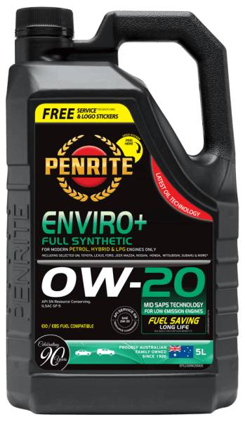Oil Engine Penrite Enviro Plus 0W-20 5L - Port Kennedy Auto Parts & Batteries