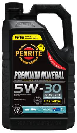 Oil Engine Penrite Premium Mineral Oil 5W-30 5L - Port Kennedy Auto Parts & Batteries