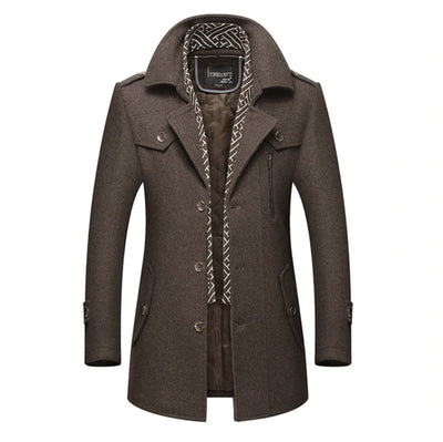 Manchester Peacoat Jacket SkyParka Brown XS