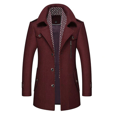 Manchester Peacoat Jacket SkyParka Red XS