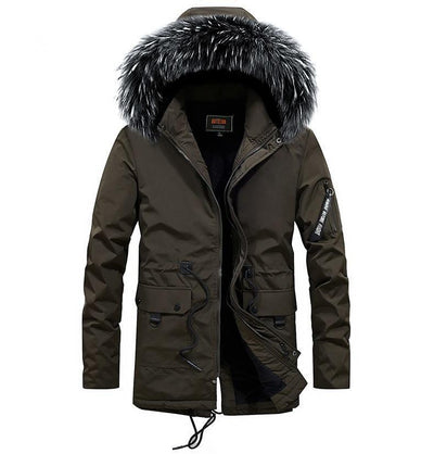 Montreal Winter Fox Parka Jacket LanceTactical Army Green S