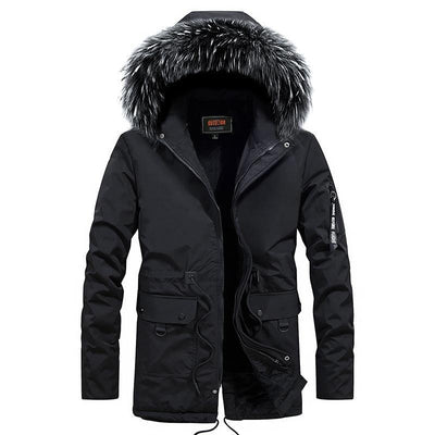 Montreal Winter Fox Parka Jacket LanceTactical Black S