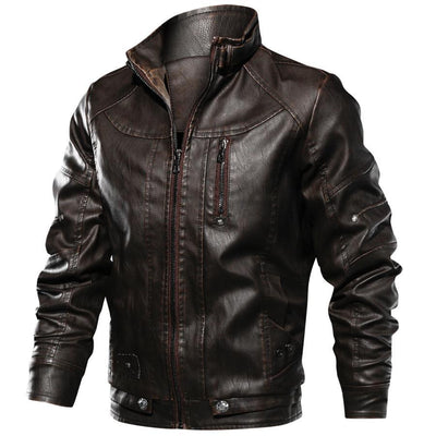 Motor-Spartan Leather Jacket Jacket Lansiari