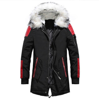Nordic Designer Parka Jacket LanceTactical Black/Red S