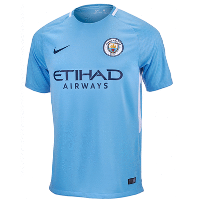 Nike Youth Manchester City Home Jersey