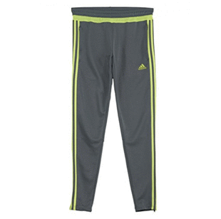 adidas Women's Tiro 15 Pant - Grey/Lime
