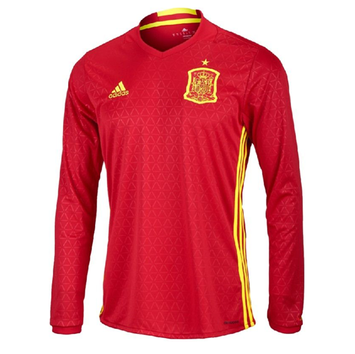 adidas Spain Home Jersey Long Sleeve
