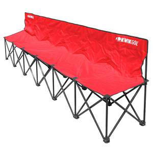 Kwikgoal 6 Seat Bench - Red