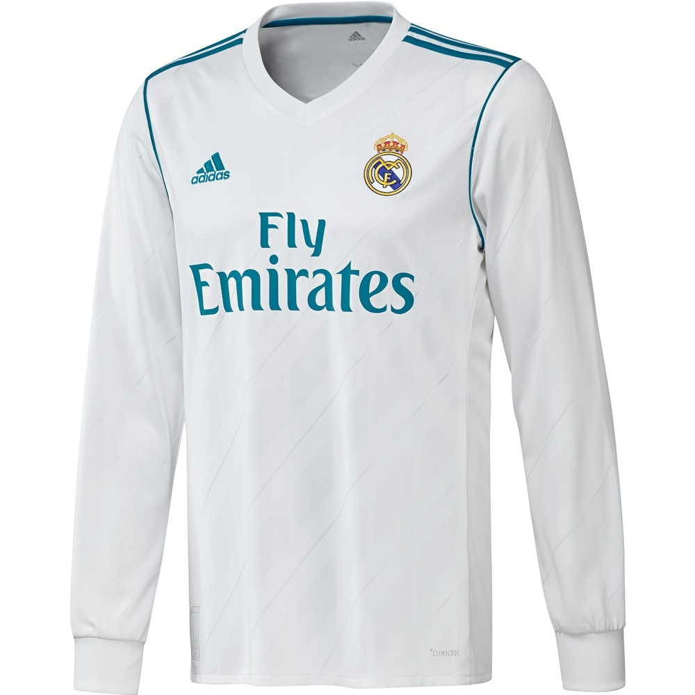 adidas Real Madrid Home Jersey Long Sleeve