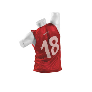 Kwikgoal Numbered Vests 1-18 - Red