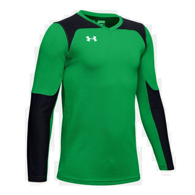 Under Armour Youth Threadborne GK Jersey - Green/Black