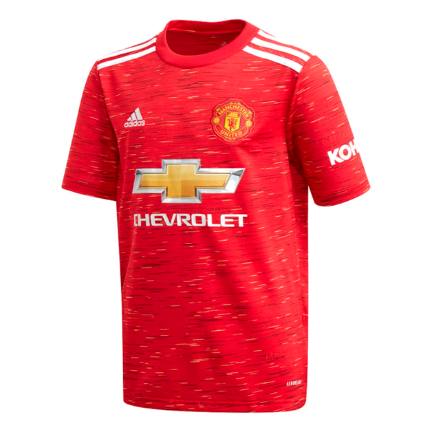 adidas Youth Manchester United Home Jersey 2020/21