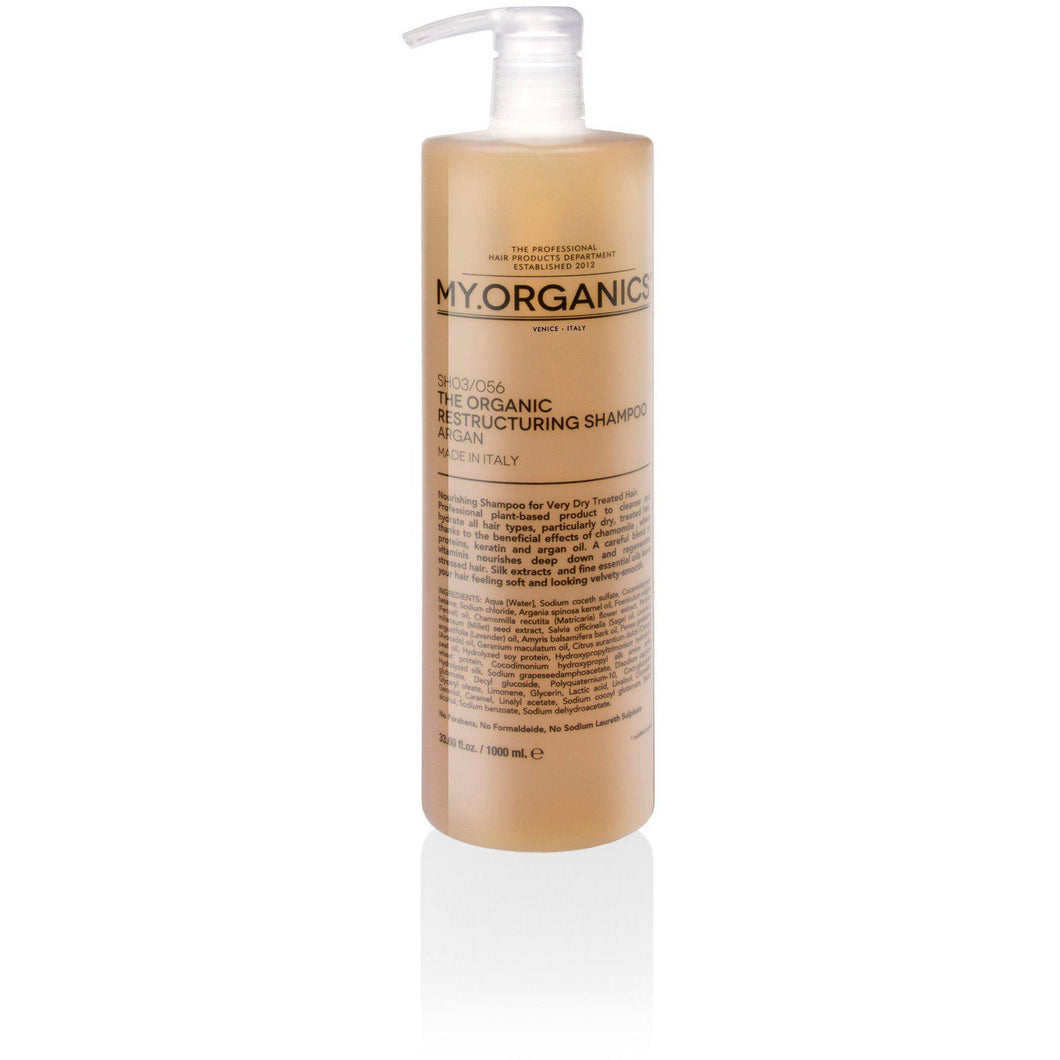 Organic Restructuring Shampoo for Damaged Hair 1000ml | My.Organics - My Organics