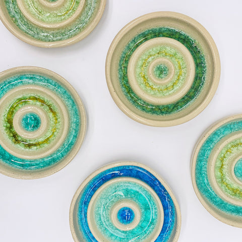 POTTERY SOAP DISHES