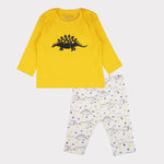 Yellow Dino pyjama set