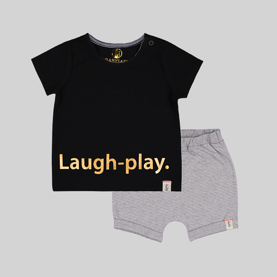 Baby boys happy fashion set - Organic cotton