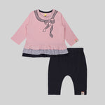 Super Trendy Girls Bow set (Pink) - Organic cotton