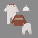 Baby Boy 4 piece Moms Cute Rainbow Set - Organic cotton