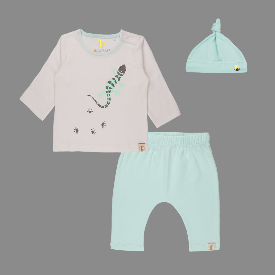 Baby Boy Lizard Fun Set - Organic cotton