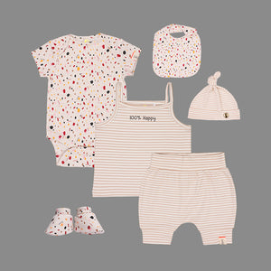 Unisex baby 6 piece Caramel Set - Organic cotton