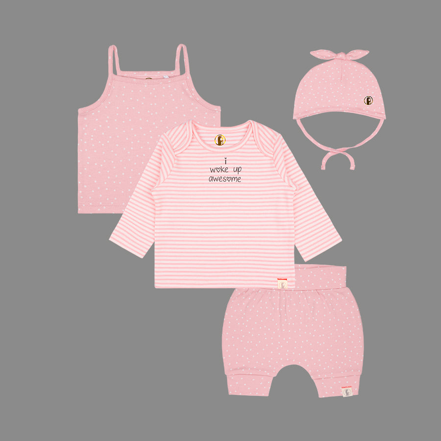 Baby Girls 4 Piece set - Organic cotton