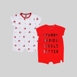 Unisex 2 Pack Romper Suits - Organic cotton