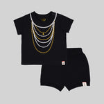 Baby girls shorty Set (Black) - Organic cotton