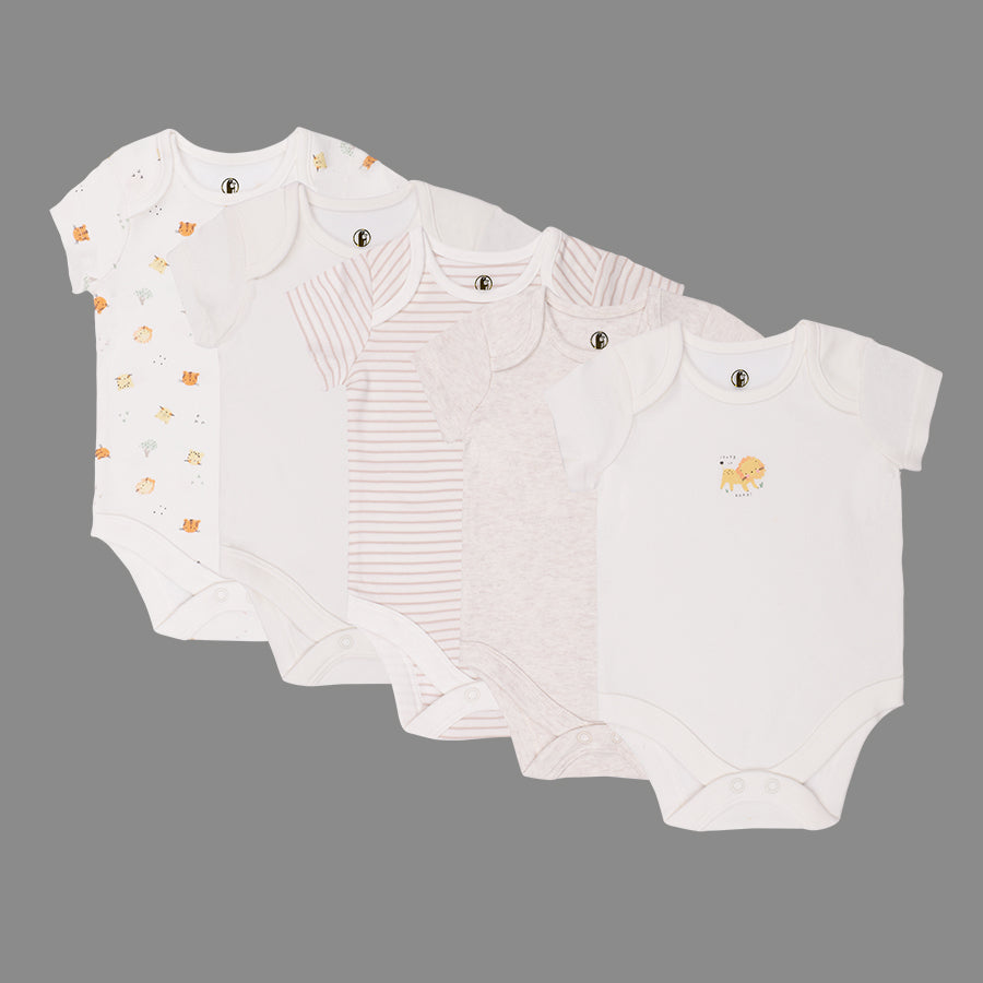 Unisex Baby 5 Pack Bodysuits - Organic cotton